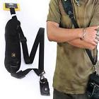 Black Single Shoulder Sling Belt Strap for DSLR SLR Camera Q