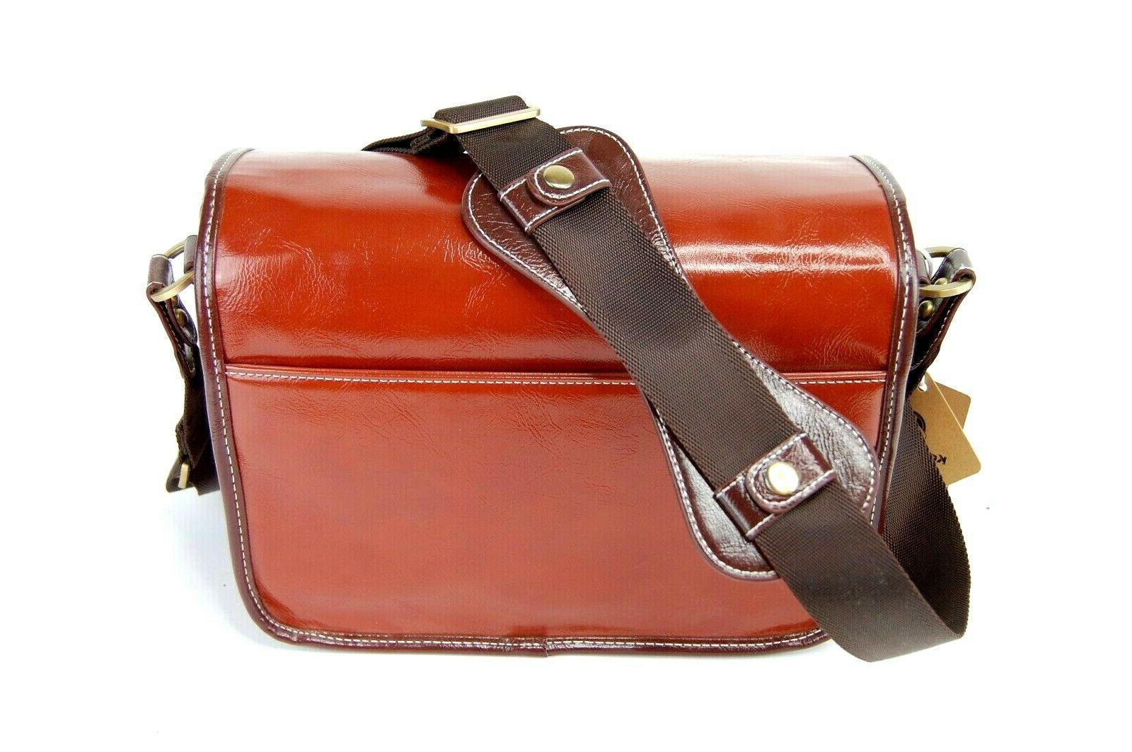 BRAND Leather Camera Bag KOOLERTRON in Shoulder Messenger