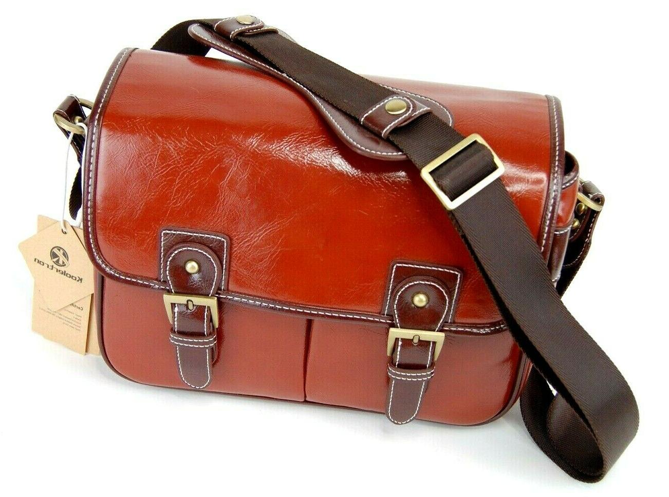 brand new leather camera bag in usa