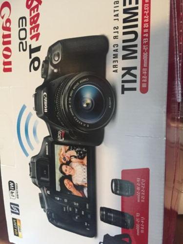 BRAND NEW T6 Camera Premium Kit 2Lens & 75-300mm,