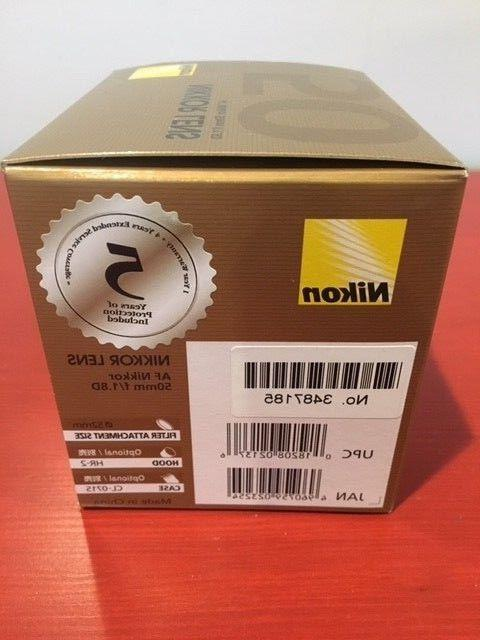 *Brand Sealed Nikon AF NIKKOR 50mm f/1.8D for DSLR