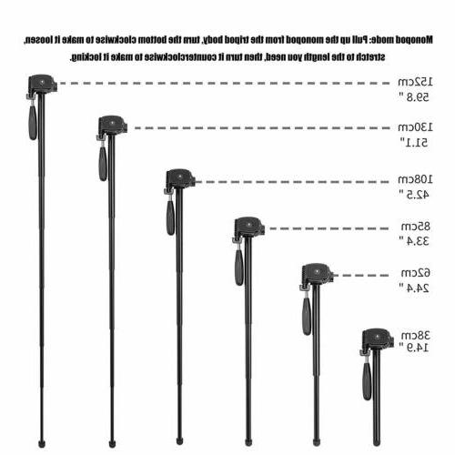 ZOMEI Tripod Monopod 55''Compact Light stand DSLR