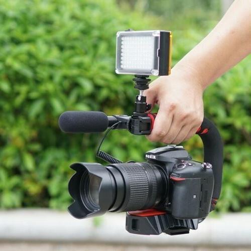 Camera Video Stabilizer Handle Grip Shoe Video Light, for DSLR