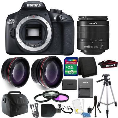 Canon EOS 1300D/T6 18MP DSLR Camera + 18-55mm Lens + Accesso