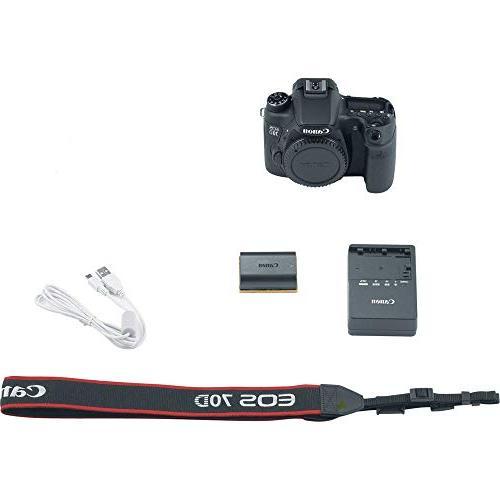"Canon EOS with is + 32GB SDXC Card, 50"" Tripod, Bag, Lens Pen, Dust Blower, AOM International Version"