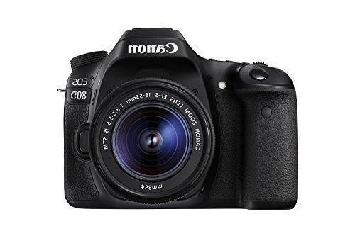 Canon 80D Digital SLR Camera STM + III Lens Card SDXC + Spare Battery DigitalAndMore Accessory Bundle