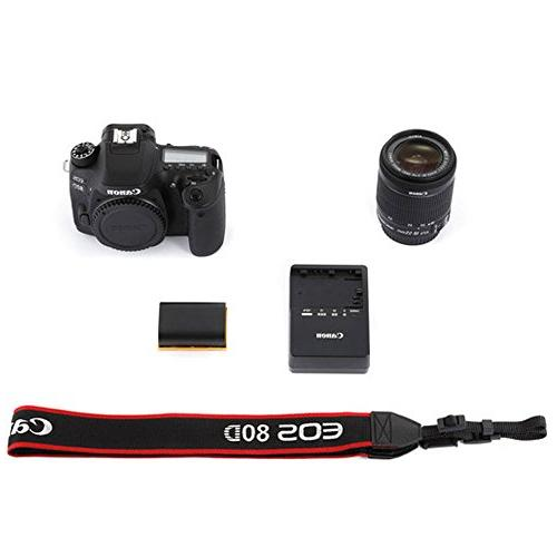 Canon DSLR Camera Body + EF-S 18-55mm EF-S 55-250mm Lens Telephoto Wide Angle 58mm 2X Macro 32GB Memory Card Accessory Bundle