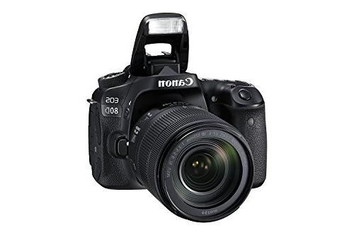 Canon 80D SLR STM + Canon Card Reader SDXC + Spare Battery + DigitalAndMore Accessory Bundle