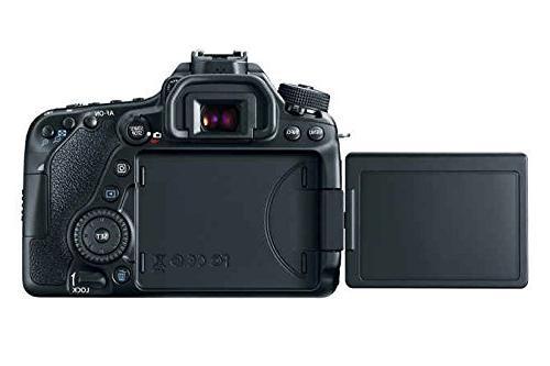Canon Digital SLR + 18-55mm STM + Canon III Lens Card SDXC + Spare Battery + DigitalAndMore Accessory
