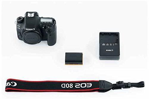 Canon EOS 80D SLR Camera STM + Canon III Card Reader SDXC + + Spare DigitalAndMore