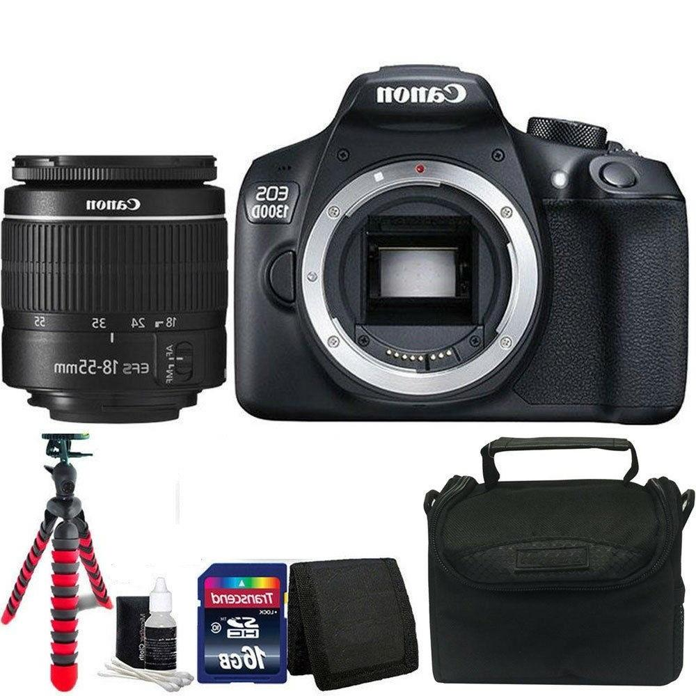 Canon EOS Rebel 1300D/T6 18MP DSLR Camera w/18-55mm Lens + A