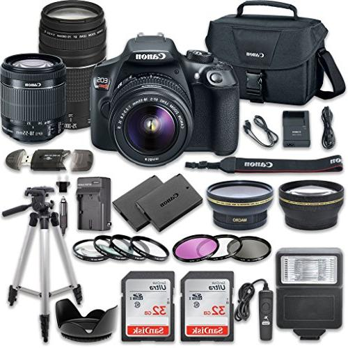 Canon Rebel DSLR Camera Bundle IS Canon III SanDisk