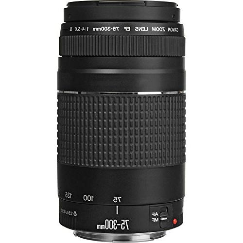Canon DSLR Camera EF-S 18-55mm f/3.5-5.6 IS and EF III and 64GB Triple Bundle