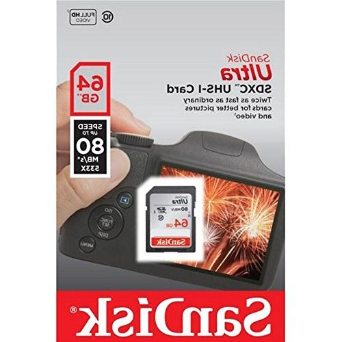 Canon Memory Card SanDisk Ultra SD 80mb/s Everything But Stromboli Memory