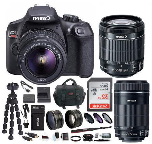 Canon EOS T6 DSLR EF-S 18-55mm EF-S Lens Bundle