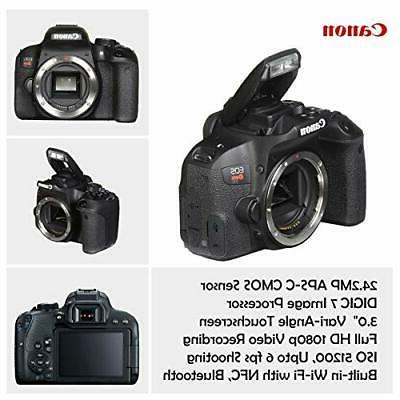 Canon EOS Rebel DSLR Camera with Lenses and Bundle