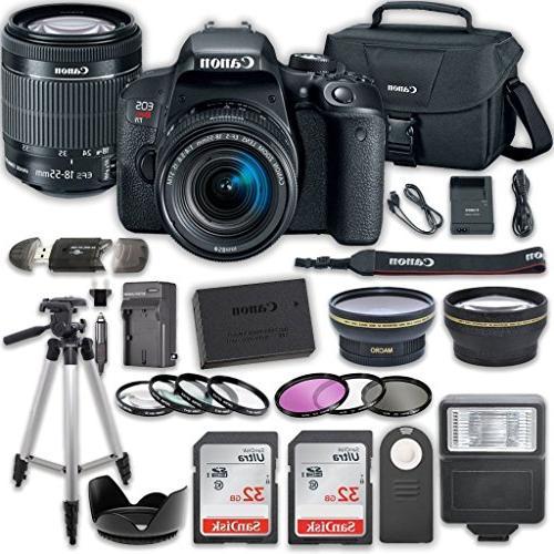 canon eos t7i dslr camera 18 55mm stm lens 32gb card accesso