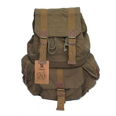 Kattee Canvas Shoulder Backpack Canon Nikon Sony SLR DSLR