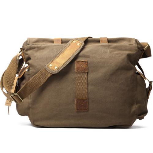 Kattee Leather DSLR Vintage Shoulder Messenger Bag