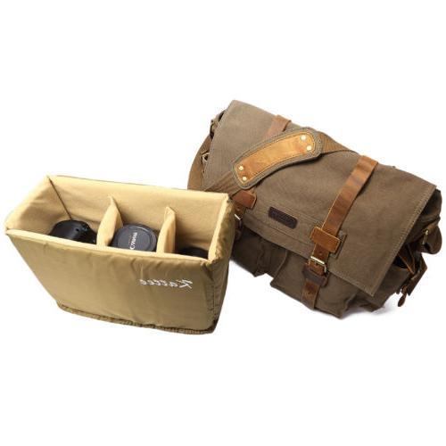 Kattee Leather DSLR SLR Vintage Shoulder Bag
