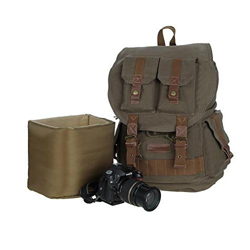 Koolertron DSLR SLR Camera Shoulder Rucksack Bag With Waterproof Cover Sony Nikon