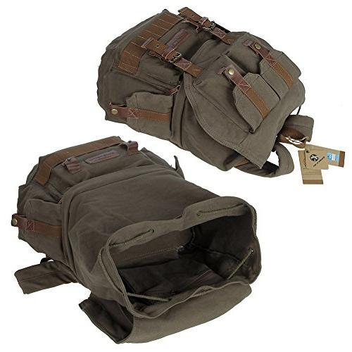 Koolertron Canvas DSLR SLR Camera Shoulder Backpack Rucksack Bag Cover Sony Canon Nikon