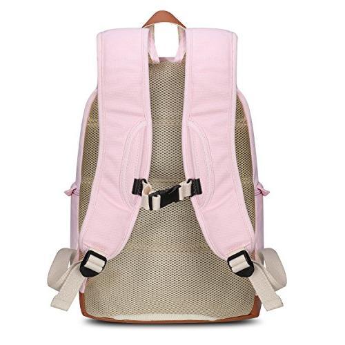 Kattee Canvas DSLR Camera Backpack Laptop Bag Case with Rain for Nikon