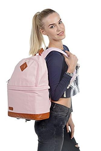 Kattee SLR DSLR Camera Backpack Bag Rain for Canon Nikon Pink