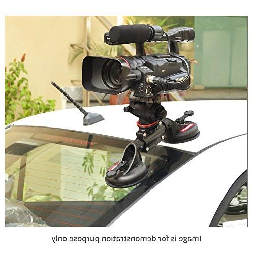 FILMCITY G2 Campod Car Mount Stabilizer Suction for Video Camera 8kg/17lb High Strength Safe Gripper Videomakers