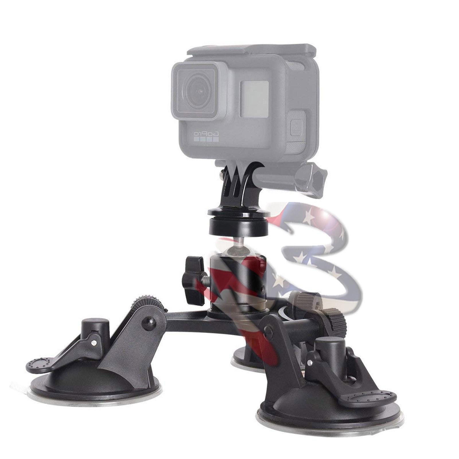 Car for GoPro Cam Triple Suction Cup