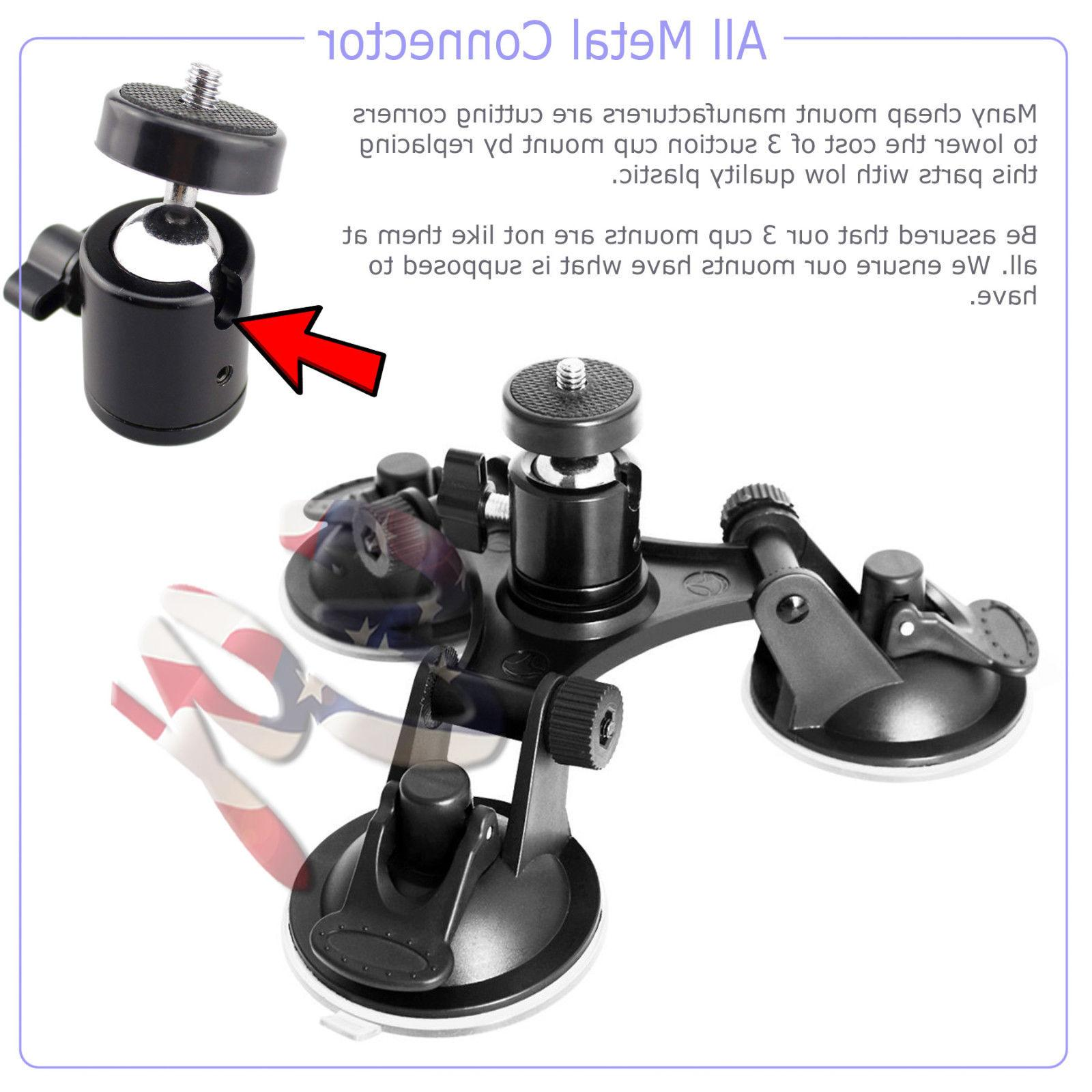 Car Windshield Tripod Mount for GoPro Cam Suction