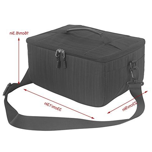 Koolertron Camera Case DSLR Camera Insert Bag Universal Liner Pouch Partition Protective Cover Waterproof Sleeve for