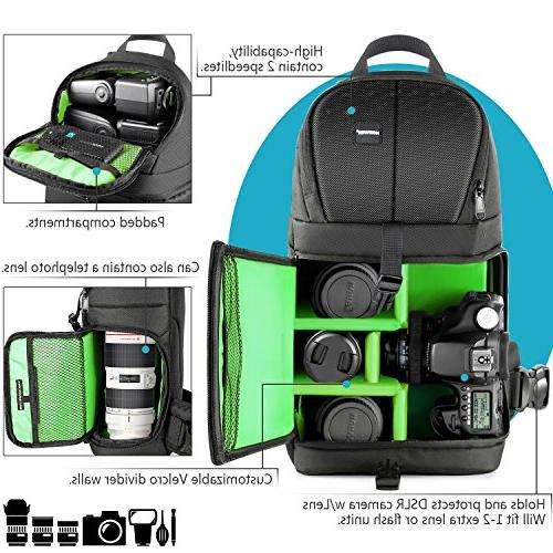Neewer Professional Case Sling Backpack Nikon Canon DSLR Cameras and Accessories,Durable Waterproof Proof Bag Padded Dividers