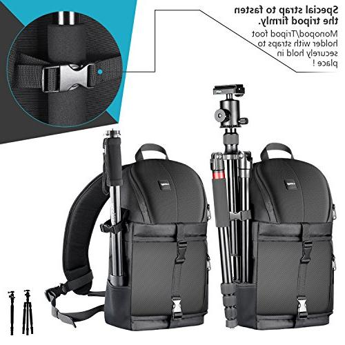Neewer Professional Camera Case Sling for Canon Sony DSLR Cameras Accessories,Durable and Proof with Dividers