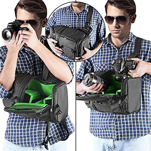Neewer Camera Case Sling Backpack Nikon Canon Sony DSLR Cameras Accessories,Durable Waterproof and Proof Bag