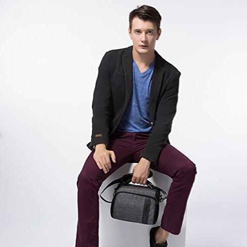 BAGSMART Bag with Waterproof Rain Cover, Grey