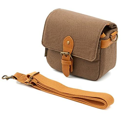 Compact Shoulder Bag Small Canvas Shoulder Pouch 4/3 Four Third/Compact System/Mirrorless/Power