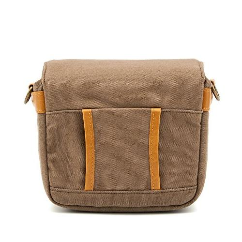 Compact Camera Bag Canvas Shoulder Pouch Case for 4/3 Four System/Mirrorless/Power Digital Camera-