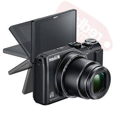 Nikon Coolpix 20 Megapixel Camera Black - 16:9 - Optical - Image 2160 Video - HD Movie - Wireless
