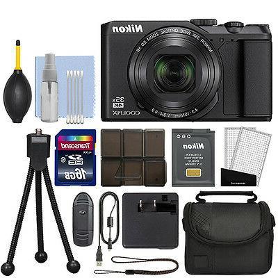 Nikon Megapixel Camera - Black - 3 LCD Optical - - Image - 2160 - - HD Movie - Wireless LAN