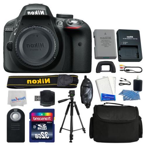 Nikon Body Kit: Remote +Tripod +32GB +More