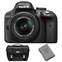Nikon D3300 DSLR 24.2 MP HD 1080p Camera Bundle w/ 18-55mm L