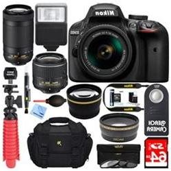 Nikon D3400 DSLR Camera w/ AF-P DX 18-55mm & 70-300mm VR Len
