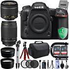 Nikon D500 4K DSLR Camera w/ 4 Lens - 18 to 300mm- 64GB - 20