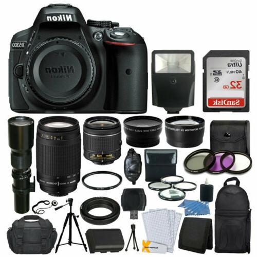 d5300 dslr camera 9 lens 32gb kit