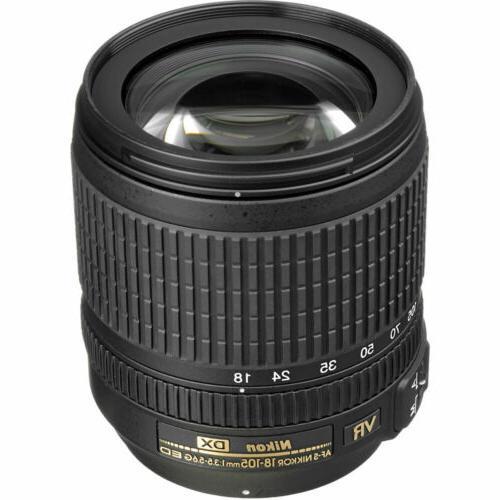 Nikon DSLR + 18-105mm + Shoutgun + UV + Case 32GB Kit