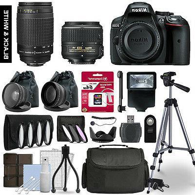 d5300 slr camera 4 lens kit 18