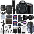 Nikon D5300 SLR Camera Body + 5 Lens 18-55mm VR + 70-300mm +