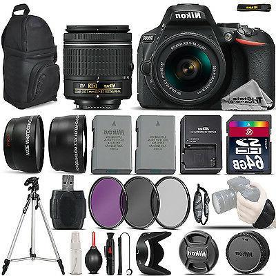 d5600 digital slr camera 3 lens 18