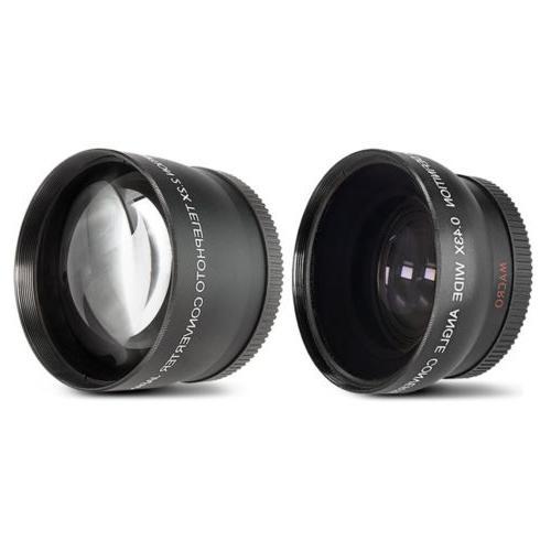 Nikon D5600 DSLR + 3 Lens Kit 1yr Warranty 64GB Bundle